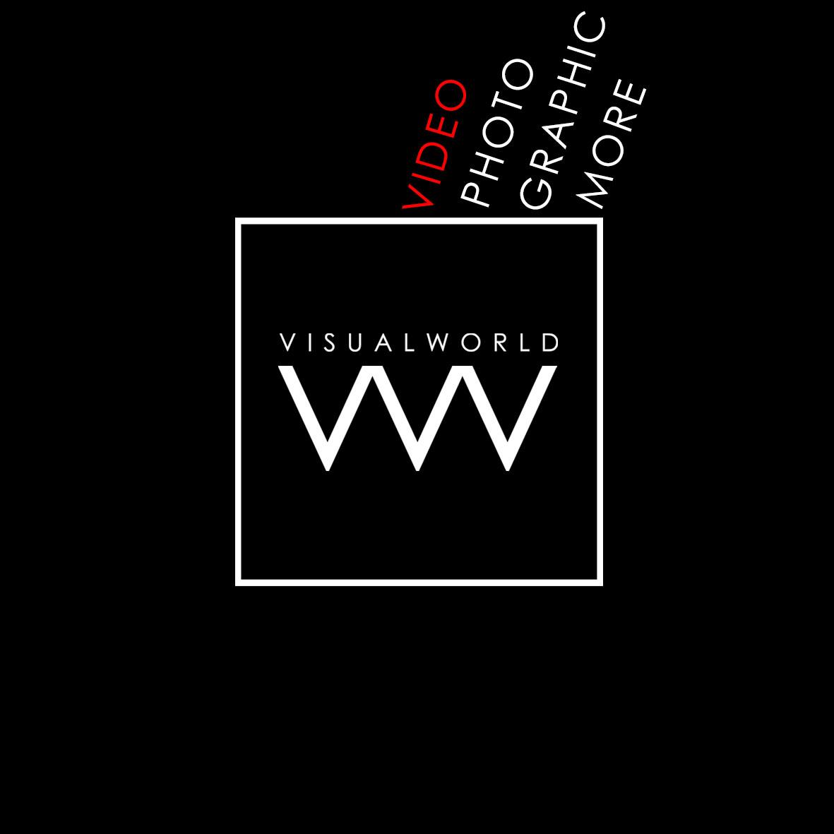 Visualworld news logo. Produzione video a Bergamo